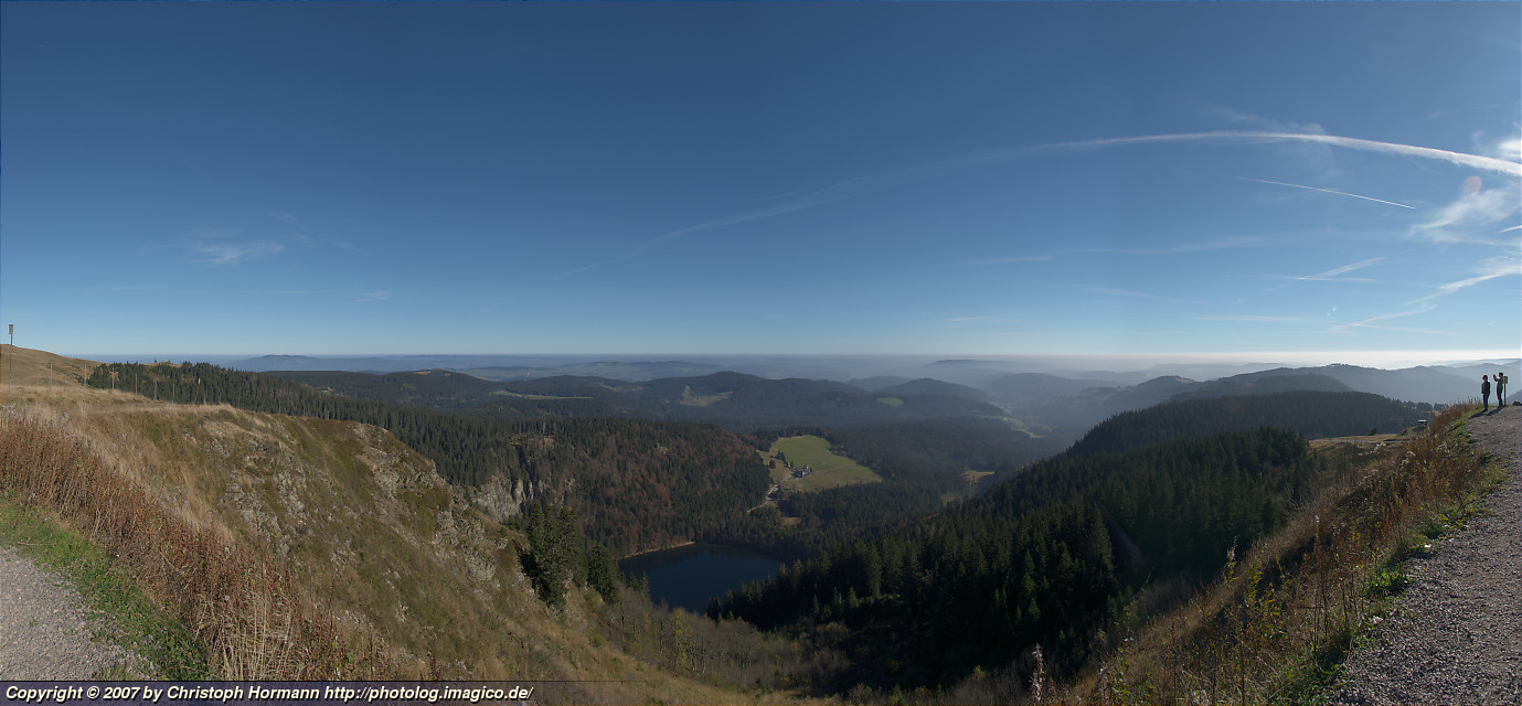 image 5: Panorama of the Feldsee from the top of the Seebuck (1448m)