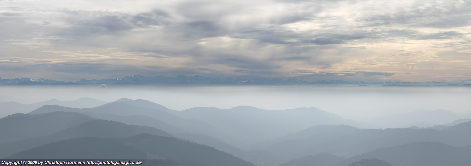 image 48: Alps panorama above the hills of the southern Black Forest