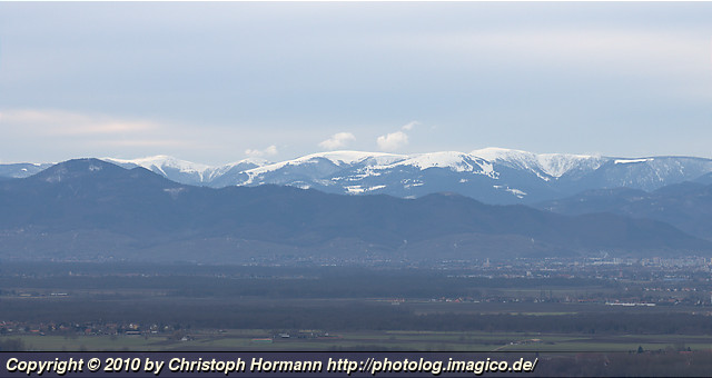 image 54: The snow covered Vosges mountains