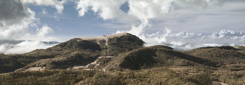 Der Belchen vom Herzogenhorn im Südschwarzwald, infrarot